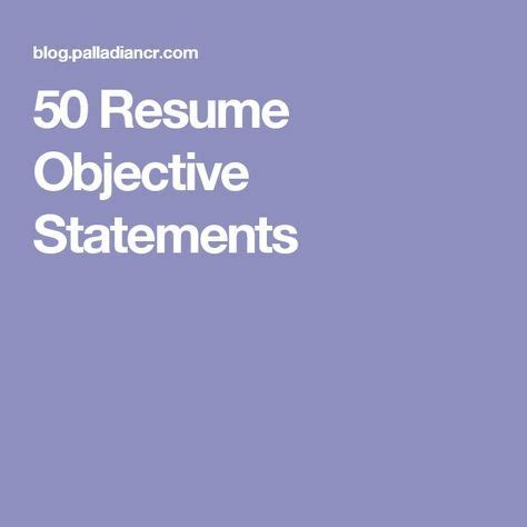 Samples of objective in a resume